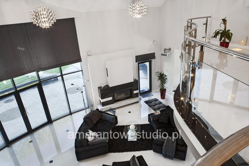 Wnętrze w stylu glamour - aranżacja wnętrz - stylowe wnętrze