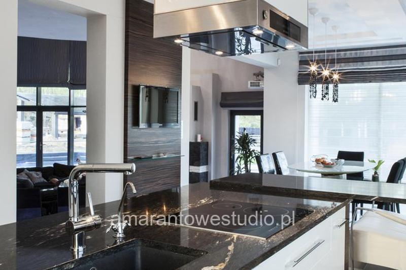 Wnętrze w stylu glamour - aranżacja wnętrz - stylowe wnętrze - Architekt wnętrz Białystok