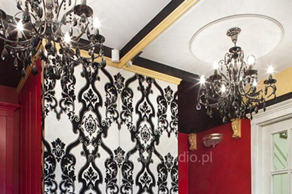 Aranżacja wnętrz w stylu tradycyjnym żyrandole Białystok