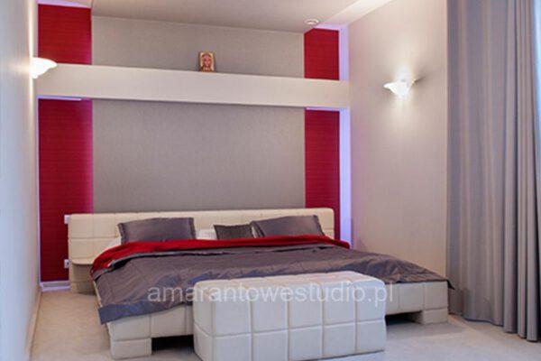 Projektowanie wnętrz w stylu glamour sypialnia Białystok