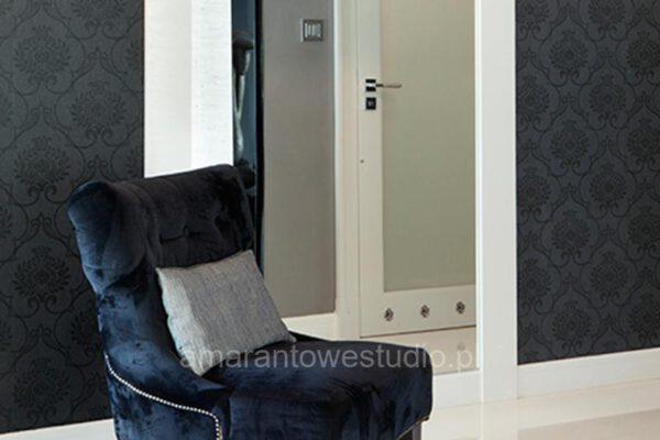 Projektowanie wnętrz fotel w stylu glamour Białystok