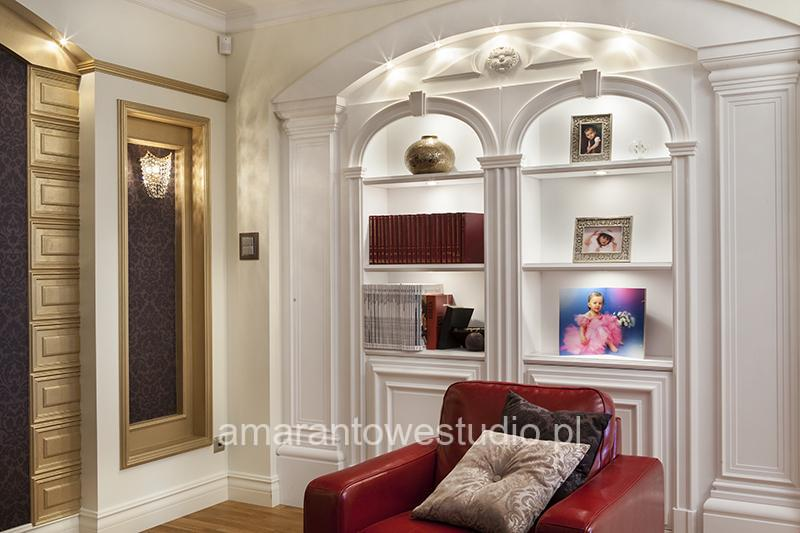 Luksusowe wnętrze w stylu  tradycyjnym - wystrój wnętrz - aranżacja wnętrz - Architekt wnętrz Białystok