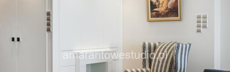 Klasyczne wnętrze - fotel w stylu retro - jasny salon