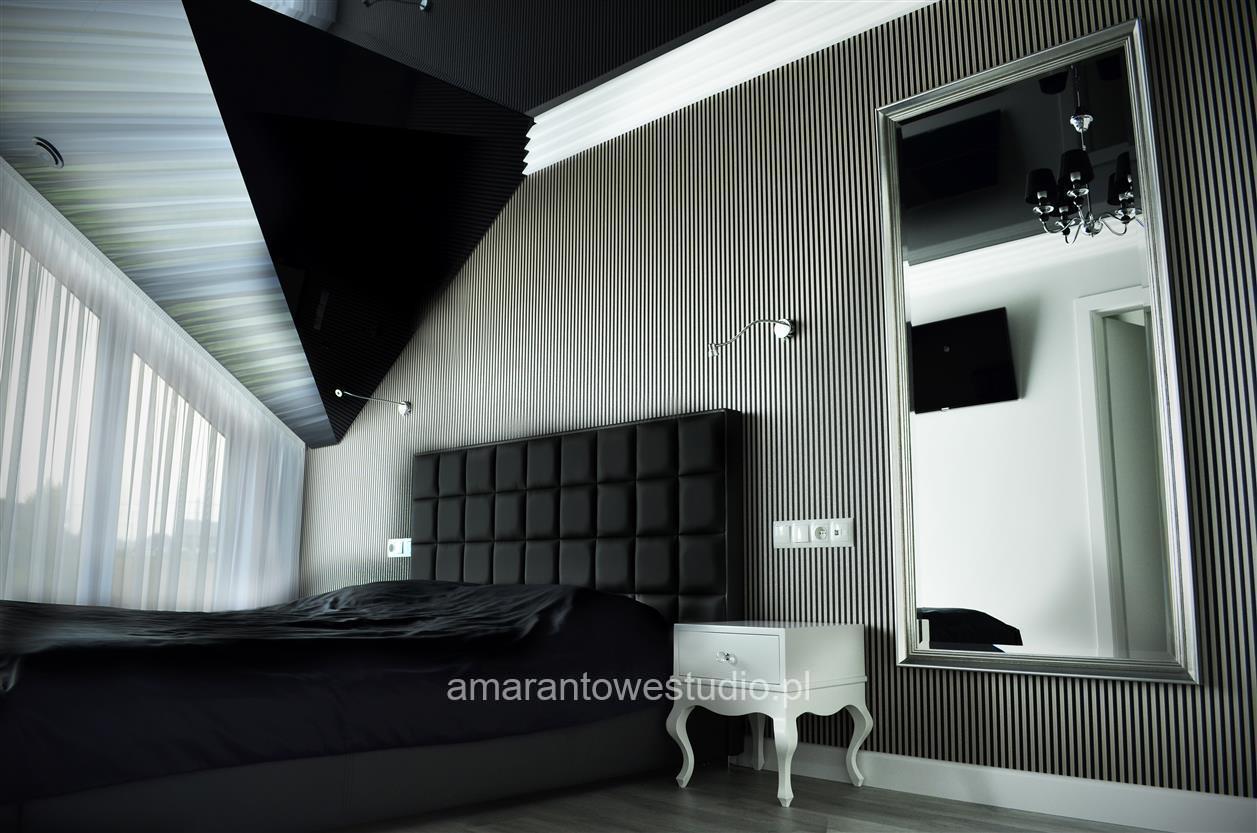 Aranżacja salony - nowoczesny dom w odcieniach szarości - Architekt wnętrz Białystok