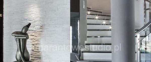 Projektowanie wnętrz w stylu glamour schody Białystok
