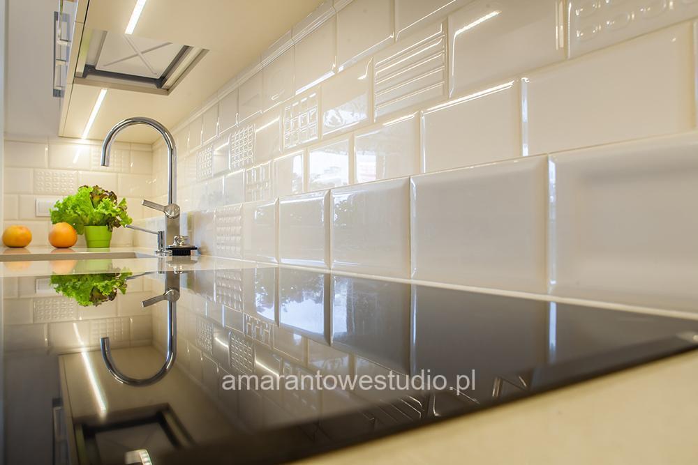 Wystrój kuchni - Aranżacja kuchni - Biała kuchnia - Amarantowe Studio