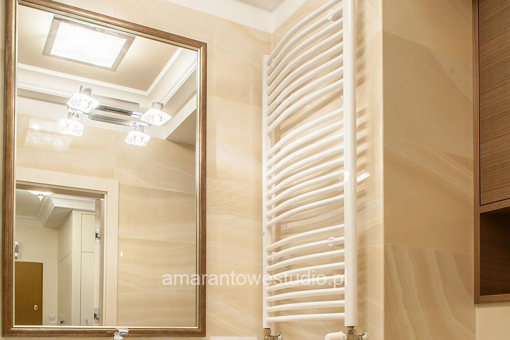Wystrój łazienki - Nowoczesna łazienka - Jasna łazienka - Amarantowe Studio
