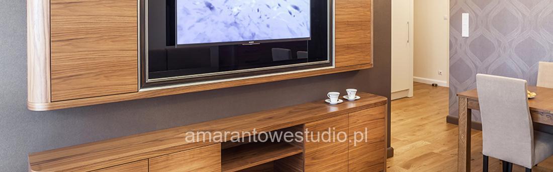 Wystrój salonu - Nowoczesny salon - Jasny salon - Amarantowe Studio