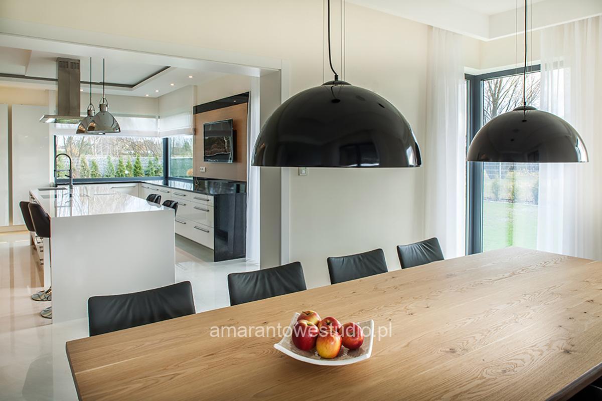 Wystrój kuchni - Aranżacja kuchni - Nowoczesna kuchnia - Amarantowe Studio