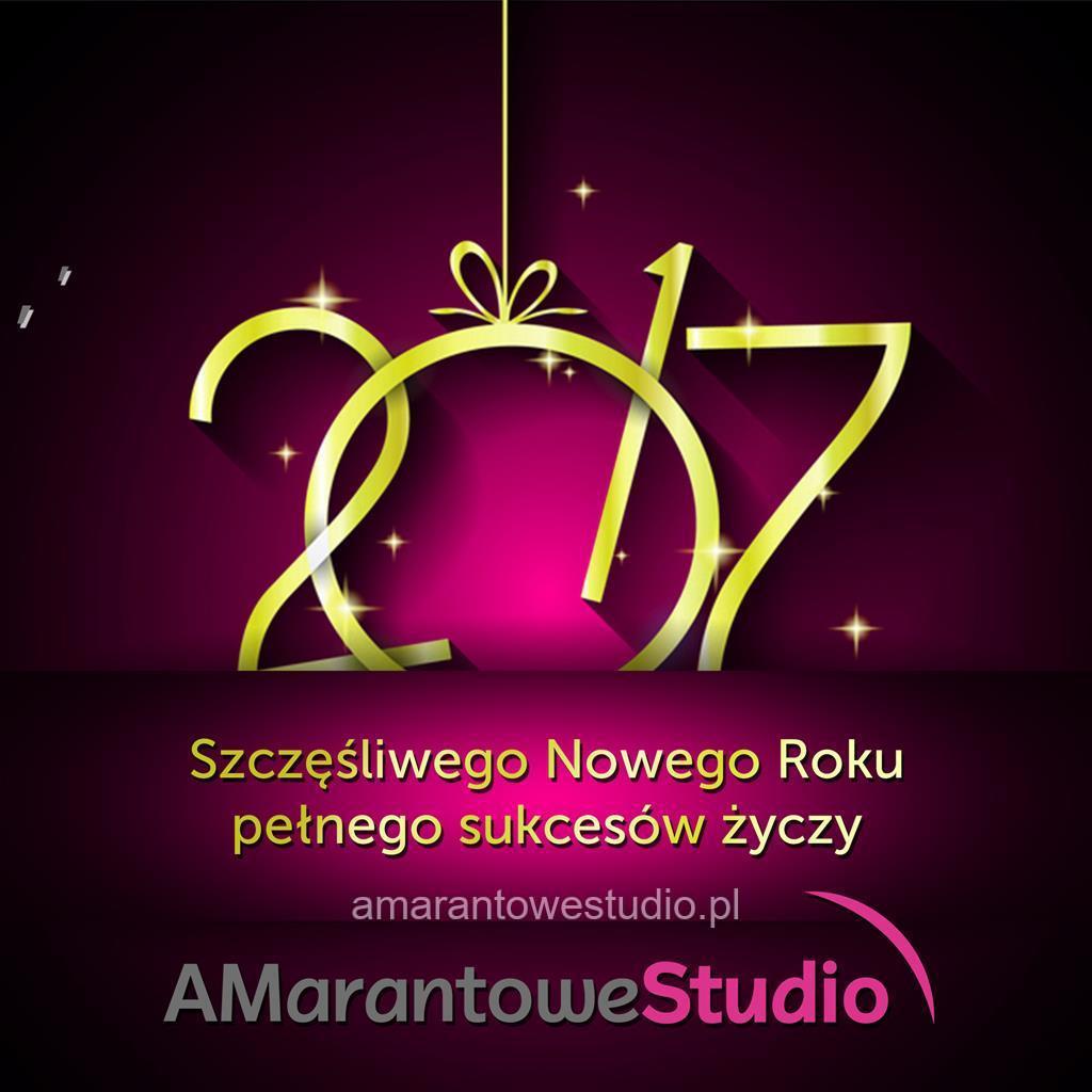 Szczęśliwego Nowego Roku 2017 pełnego sukcesów życzy Amarantowe Studio.