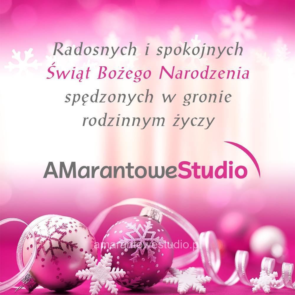 Amarantowe Studio - Życzenia Świąteczne