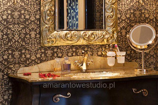 Stylowa łazienka zaprojektowana przez projektanta wnętrz Białystok