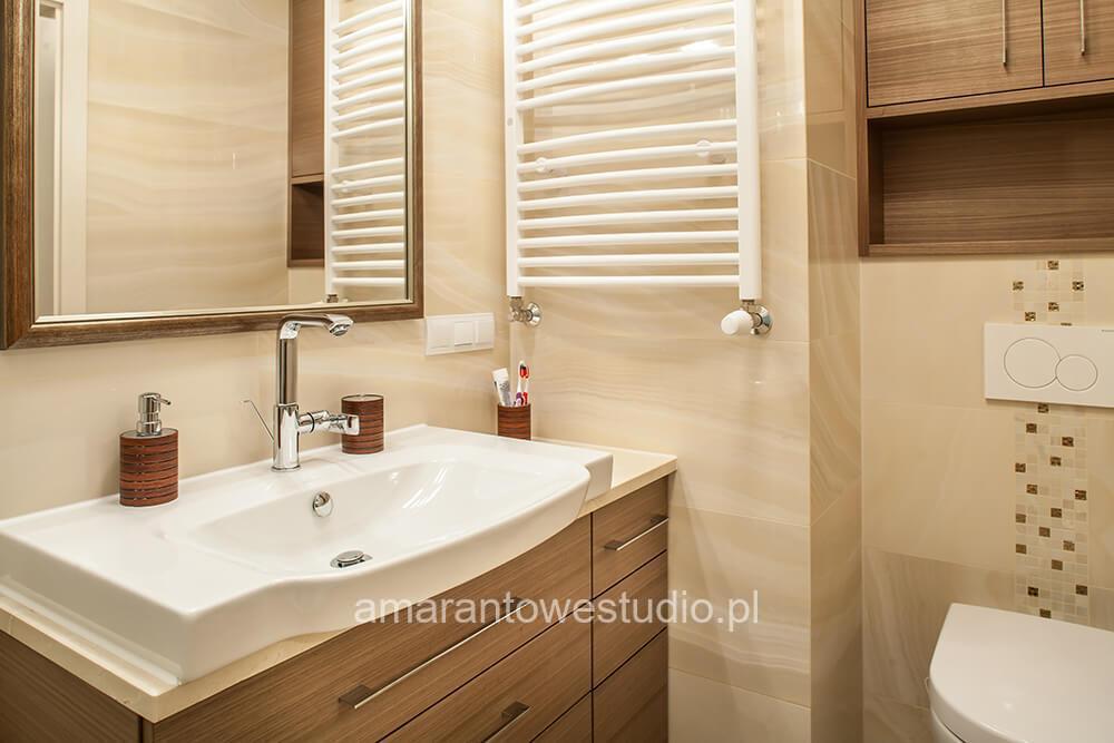Nowoczesna łazienka według pomysłu architekta wnętrz Białystok