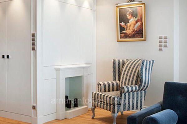 Salon w stylu retro według pomysłu projektanta wnętrz Białystok