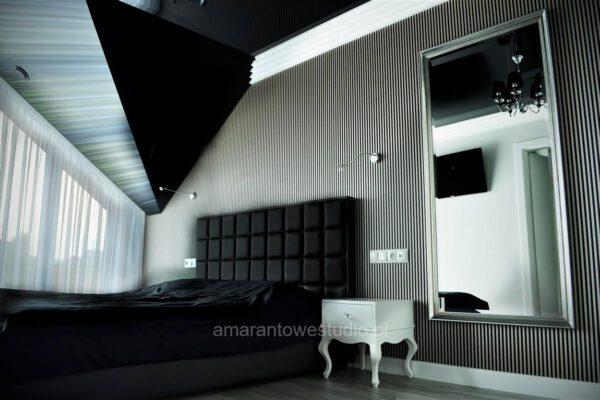 Sypialnia według pomysłu projektanta wnętrz Białystok