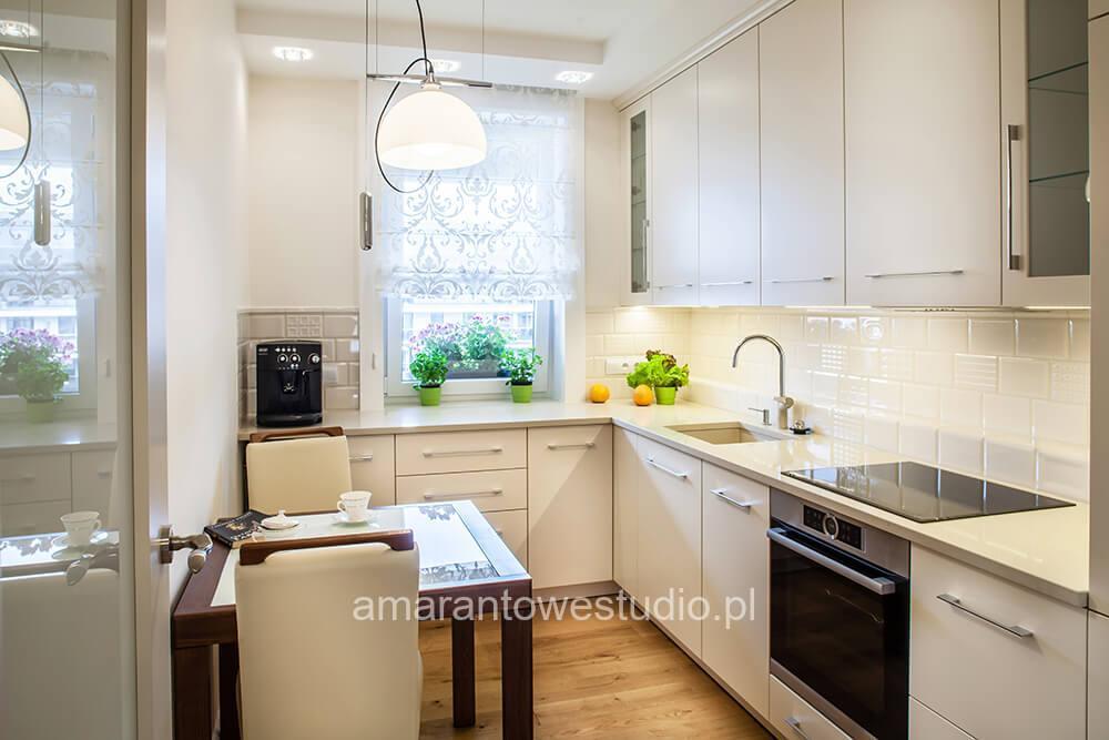 Wystrój kuchni urządzanie kuchni AMarantowe Studio Białystok