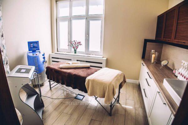 Wnętrze pomieszczenia do masażu zaprojektowane przez projektanta wnętrz Białystok