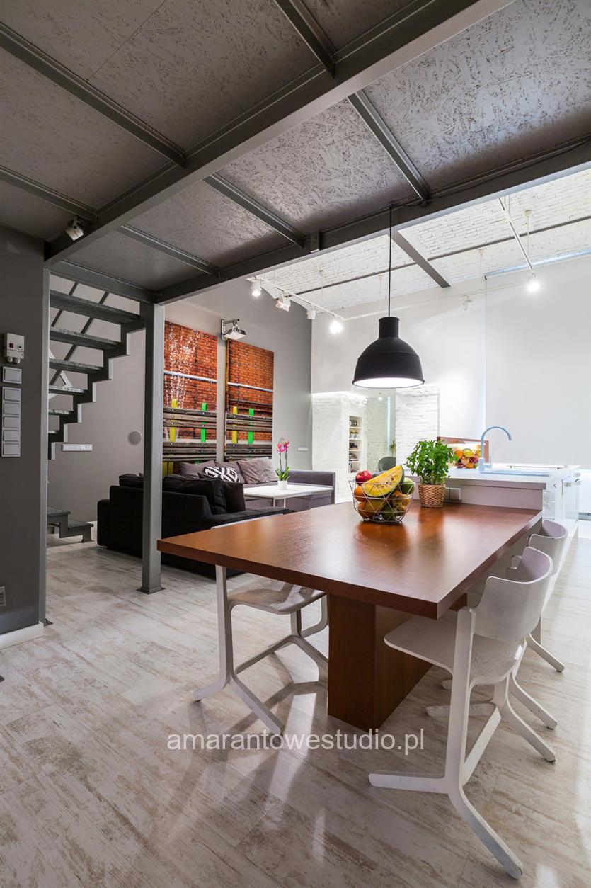 Wnętrza w stylu industrialnym projektu architekta wnętrz