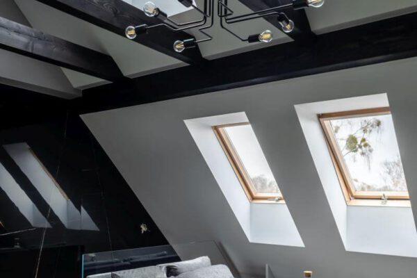 Piętro domu zaprojektowane przez projektanta wnętrz Białystok