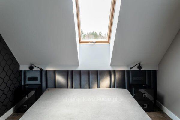 Sypialnia zaprojektowana przez projektanta wnętrz Białystok