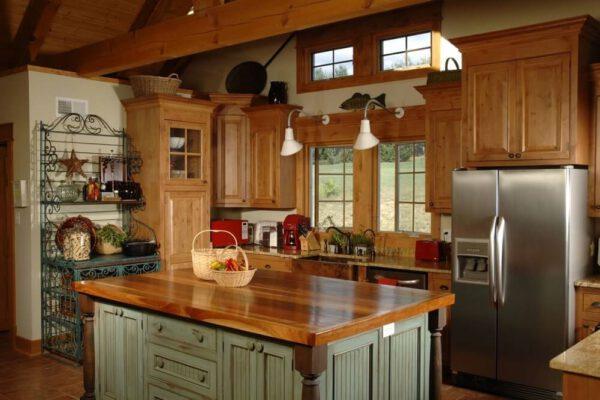 sstyl rustykalney kuchnia wnętrze